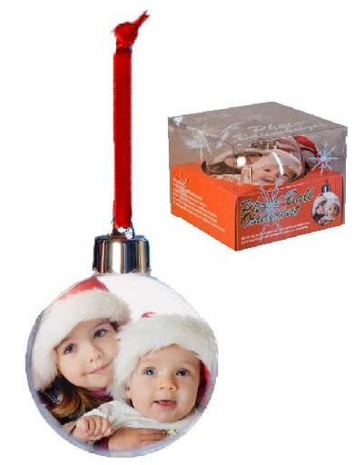 Weihnachtsbaumkugel bedruckt mit 2 Wunschfotos