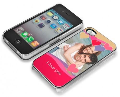 Hülle/Cover für iPhone 4/4S bedruckt mit Foto/Logo/Text